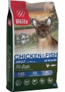 Сухой корм для кошек Blitz Holistic Chicken & Fish Cat All Breeds (Low Grain)