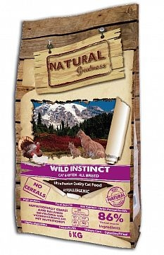 Сухой корм для кошек Natural Greatness Wild Instinct Recipe cat
